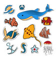 clipart with deep-sea fish vector image