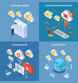 cloud technology isometric design concept vector image