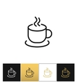 Coffee cup steam mug icon vector image