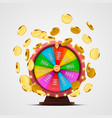 colorful fortune wheel isolated background vector image vector image
