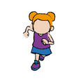 cute child girl cartoon character vector image vector image