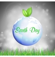 Earth Day background with the words blue planet vector image