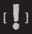 exclamation mark symbol design vector image vector image
