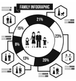 Family infographic black simple vector image