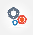 gear icon 2 vector image vector image