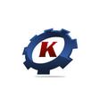 gear logo letter k vector image vector image