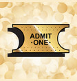 gold ticket icon vector image vector image