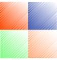 Grunge set stripe vector image vector image