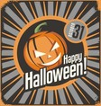 Halloween card template vector image