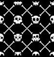 halloween skull seamless pattern mexican vector image