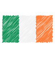 hand drawn national flag of ireland isolated on a vector image