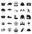 hat icons set simple style vector image