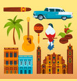 havana cigar and others differents cultural vector image
