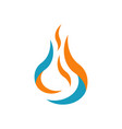 hot fire flames logo icons in white background vector image vector image