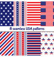 independence day memorial day 4th july set vector image