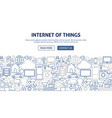 internet of things banner design vector image