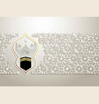 islamic design hajj greeting card template vector image vector image