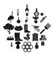 lease icons set simple style vector image vector image