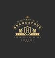 Luxury monogram logo template object
