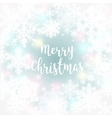 Merry Christmas message and light background with vector image vector image