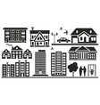 multi storey buildings vector image vector image