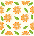 oranges and leaves seamless pattern vector image vector image