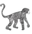 ornamental hand drawn sketch monkey in vector image