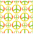 peace symbol made hippie theme pacifism vector image