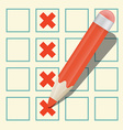 Pencil Check Option vector image