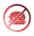 prohibited hamburger icon vector image vector image