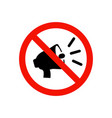 prohibiting sign vector image vector image