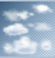 realistic clouds in the sky vector image vector image