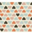 retro heart pattern vector image vector image