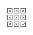 right choice check mark on ballot checklist line vector image