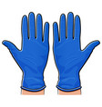 rubber gloves isolated design vector image