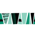 seamless border abstract black teal green vector image vector image