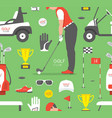 seamless pattern with golf game vector image