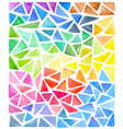 set of bright watercolor triangles vector image