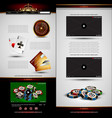 set of casino design elements vector image