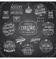 Set of Christmas emblems - Chalkboard vector image vector image