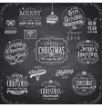 Set of Christmas emblems - Chalkboard vector image