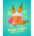 Set of Easter food cute cartoons vector image vector image