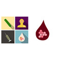 set of medecine icons termometer doctor syringe vector image