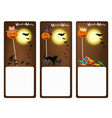 Set of Three Banners of Halloween Night vector image