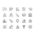 set saudi arabia and arabic culture line icons vector image vector image