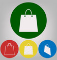 shopping bag 4 white styles vector image vector image