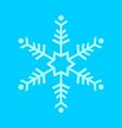 simple snowflake symbol vector image vector image