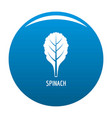spinach icon blue vector image vector image