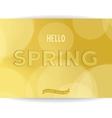 Spring golden inscription vector image vector image
