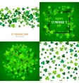 St Patricks Day background set vector image